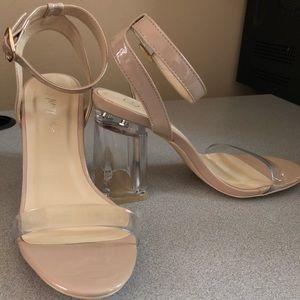 Nasty Gal Clear/Nude Heels